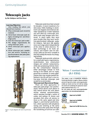 EECO technical article: Telescopic Jack - Application & Service